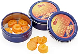 Odoria 1:12 Miniature 10Pcs Butter Cookies with 2Pcs Cans Dollhouse Kitchen Accessories