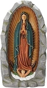 Our Lady Of Guadalupe Praying 20 x 36 Resin Stone Outdoor Grotto Statue