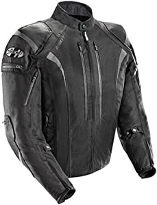 Joe Rocket Atomic Men's 5.0 Textile Motorcycle Jacket (Black, Medium)