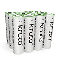 Deals on 12-Pack Kruta AA Rechargeable Batteries 800mAh 1.2V