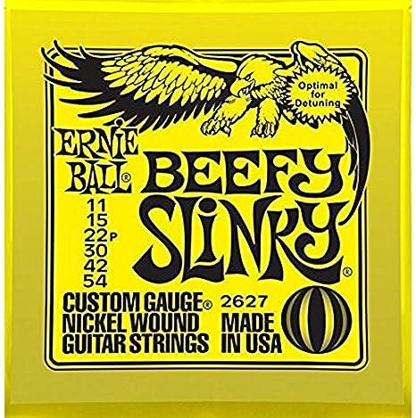 Ernie Ball 2627 Níquel Herida Cuerdas para guitarra eléctrica 11 – 54 Beefy Slinky (3