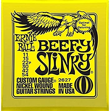 Ernie Ball 2627 Níquel Herida Cuerdas para guitarra eléctrica 11 - 54 Beefy Slinky (3 unidades): Amazon.es: Instrumentos musicales