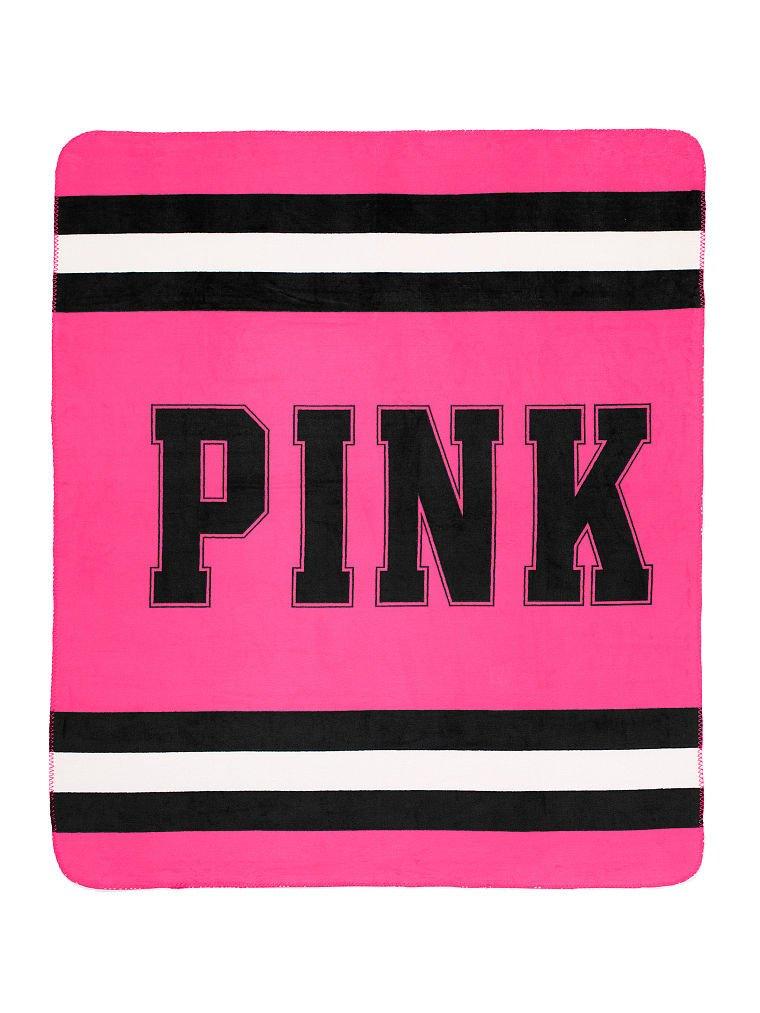 Victoria 's Secretピンクスーパーソフト毛布(ピンク) B00PXDK3I8