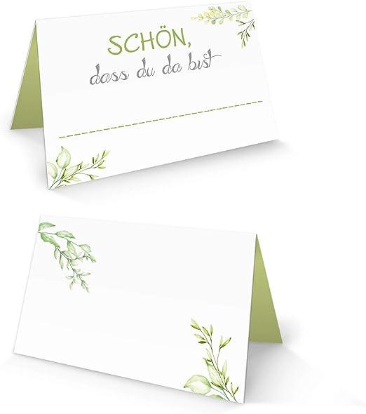 Logbuch-Verlag - Tarjeta de Mesa con Mensaje en alemán Schön DASS DU DA BIST, Color Blanco, Verde, Verde Claro, Verde Manzana, Verde Manzana, Floral Natural: Amazon.es: Juguetes y juegos