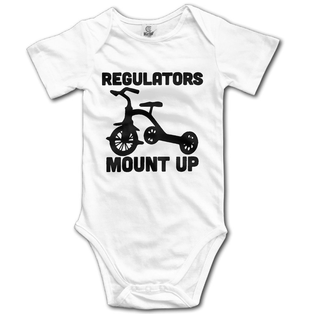 Funny Regulators Mount Up Stroller Unisex Baby Boys' Short-Sleeve Onesies