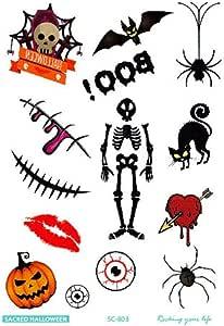 Halloween terror Body Art waterproof temporary tattoos