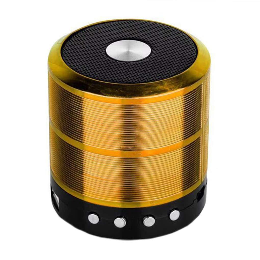 Aulley WS-887 Bluetoothスピーカー ミニBluetoothサウンドボックス ワイヤレス ポータブル Bluetoothスピーカー TFカード対応 38 * 38 * 47cm ゴールド 3879MRNXXS B07JVS4MD3 ゴールド 38*38*47cm
