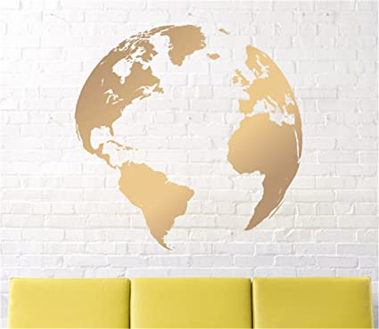 Amazon wall decals map decalnursery wall decal earth decal wall decals map decalnursery wall decal earth decal globe decal world map decal gold earth faithful gumiabroncs Gallery