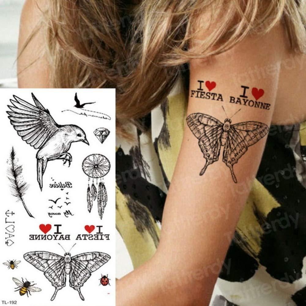 etiqueta engomada del tatuaje de la flor tatuaje flores tatuaje ...