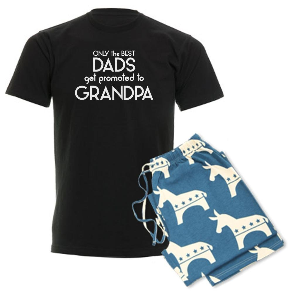 20a72d0d CafePress - Best DADS GET Promoted to Grandpa Pajamas - Unisex Novelty  Cotton Pajama Set,