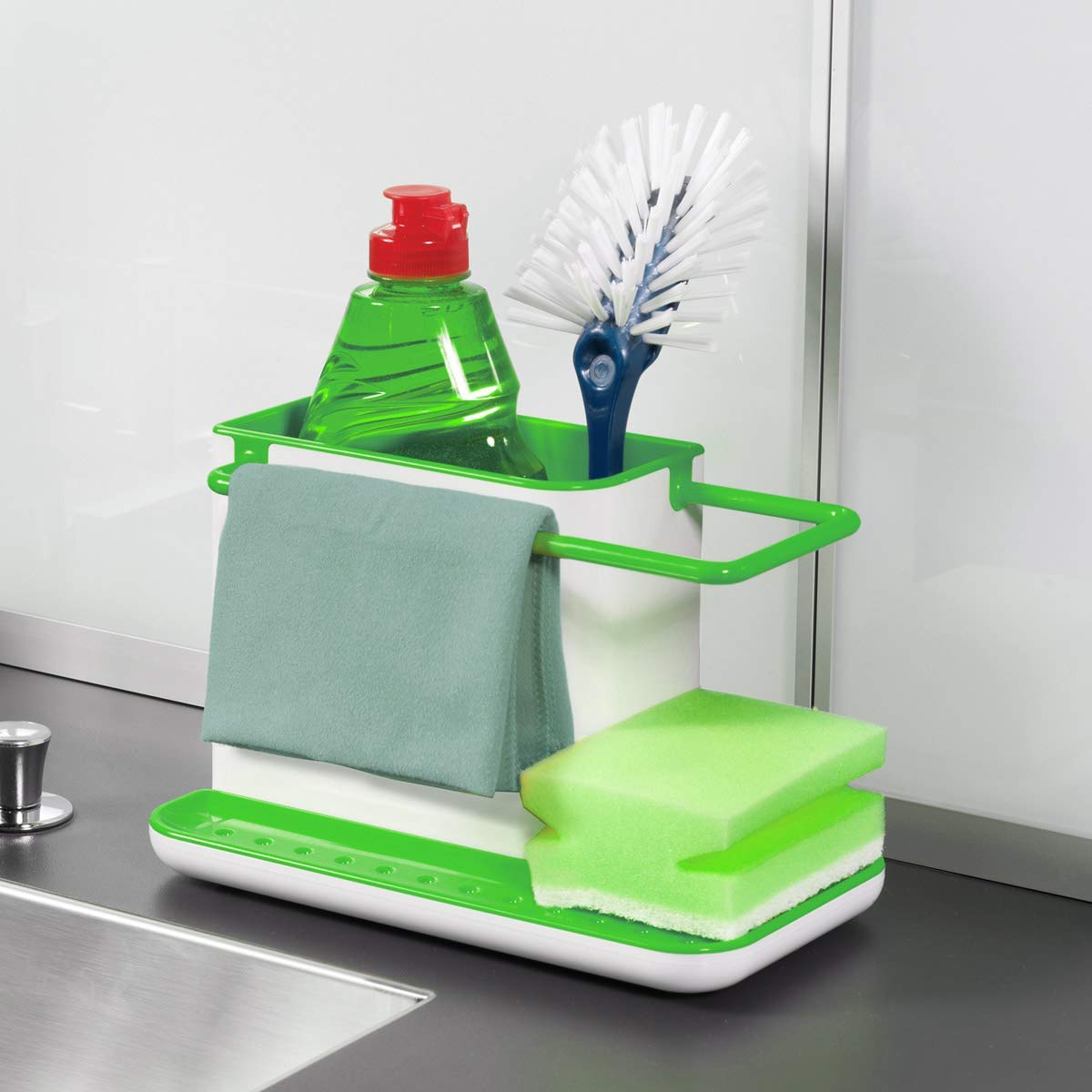 Amigozz 3 In 1 Stand For Kitchen Sink Standard Size Multicolour