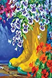 Toland Home Garden Boots and Blossoms House Flag, Large