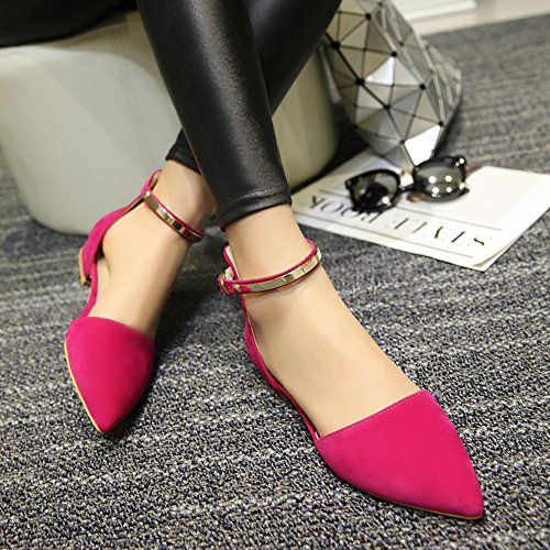 C de Pink Zapatos Exing Zapatos Los Pump Black Puntiagudos Para Sandalias Apricot Planas PU Basic Summer Mujer Casual con fwqAxUq5Z
