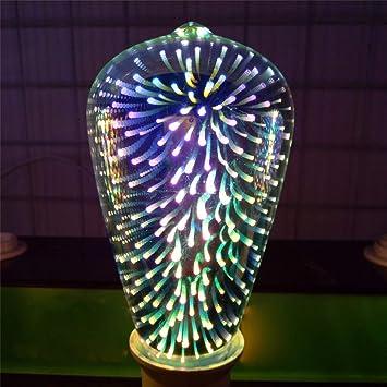 Fireworks - Bombilla LED RGB 3D, diseño de estrella, Edison, estilo vintage, multicolor: Amazon.es: Bricolaje y herramientas