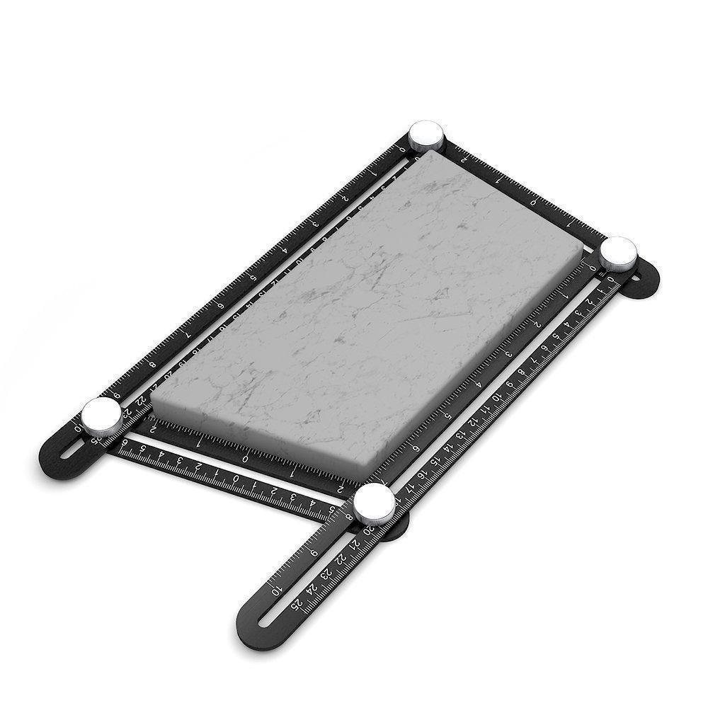 Premium Multi Angle Measuring Ruler Aluminum Template Tool With Metal Knobs I Tools Measurement Layout Angles | Wood Tile Flooring