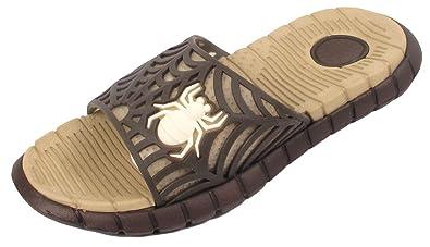1a2c309df Boys Kids Children Flip Flops Slides Spider Sandals UK Size UK 10 11 12 13  1 2 3  Amazon.co.uk  Shoes   Bags