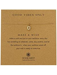 """Dogeared Make A Wish Good Vibes Sun Gold Necklace, 16"""""""