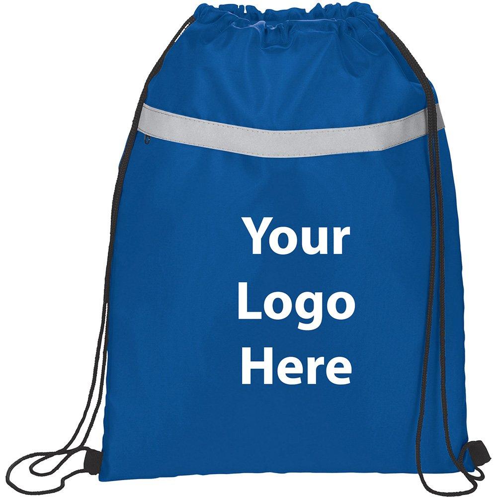 Reflecta Pocket Drawstring Sportspack - 150 Quantity - $2.55 Each - PROMOTIONAL PRODUCT / BULK / BRANDED with YOUR LOGO / CUSTOMIZED by Sunrise Identity