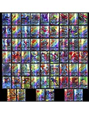 100 stycken tecknade spelkort för barn GX samlarkort innehåller set 60 V 40 Vmax kort för Pokemon