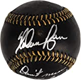 Nolan Ryan Texas Rangers Autographed Black Leather Baseball with Don't Mess With Texas Inscription - Fanatics Authentic Certified