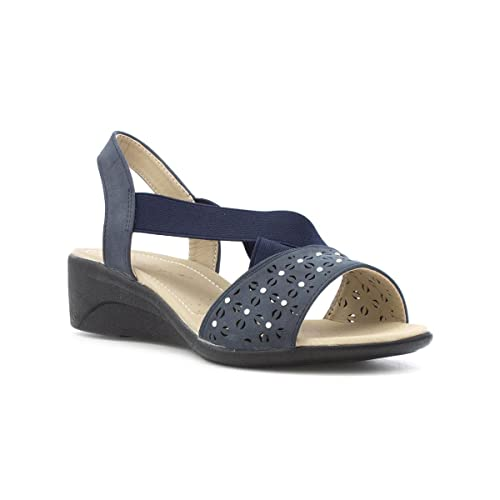 b63ccecb312f Dr Keller Womens Blue Open Toe Sandal  Amazon.co.uk  Shoes   Bags