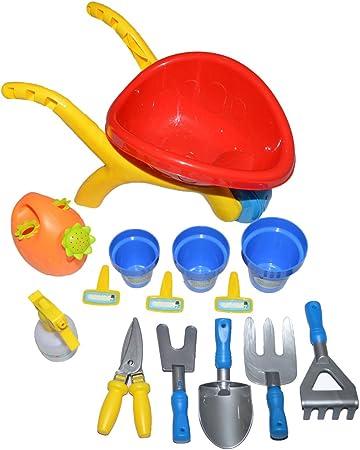 Set de jardinería con carrito de jardinero/Set de juguetes de jardín,para niños de 3 años de edad(14Pcs): Amazon.es: Hogar