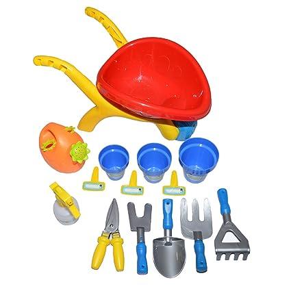 Set de jardinería con carrito de jardinero/Set de juguetes de jardín ...