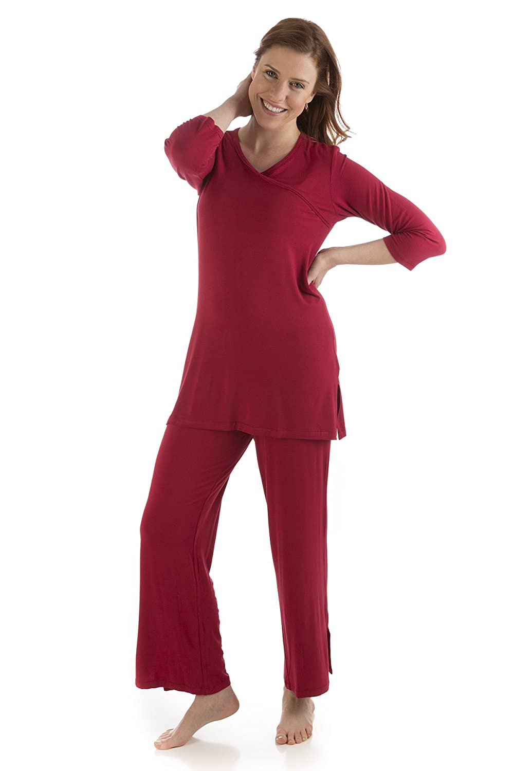 d17d1b8f3d BambooDreams Haley Crossover Tunic Pajama Set by Yala at Amazon Women s  Clothing store