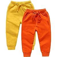 DQCUTE Pantalones Deportivos para Niños Niñas Pantalón Largos Elástico Cintura Pantalones de Chándal Joggers Algodón…