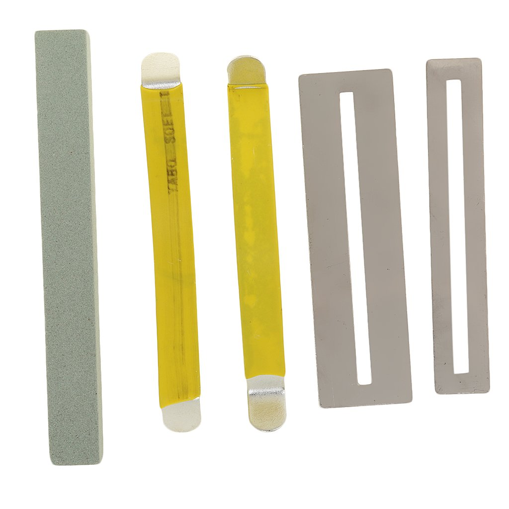 Sharplace Professional Luthier Tools Repair Kit Fret Neck Polished Millstone with Fretboard Fret Guard and String Spreaders for Guitar Accessory ad18189ba1bb7042de174d6f94790a46