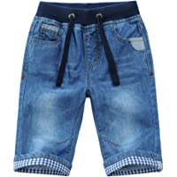 YoungSoul Vaqueros Cortos para niños - Pantalones Cortos Vaqueros con Vuelta en el bajo - Bermudas de Jeans Verano