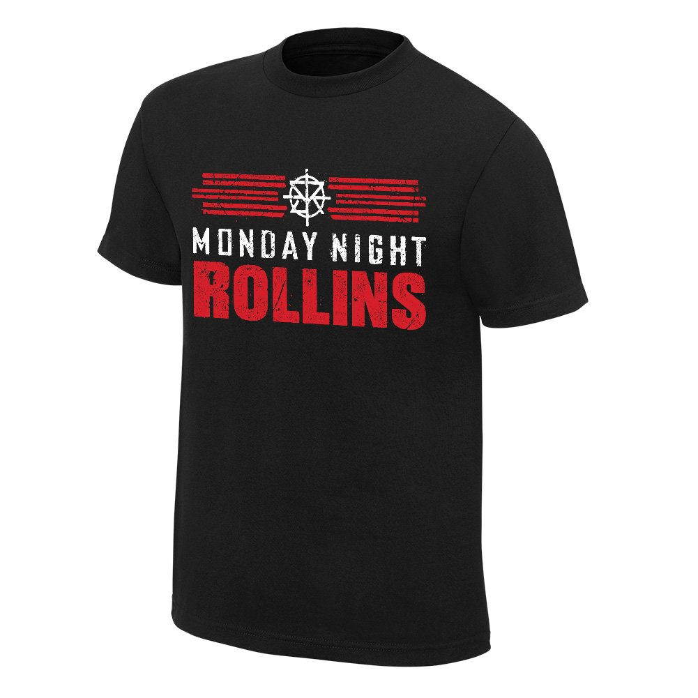 WWE Seth Rollins Monday Night Rollins Youth T-Shirt Black Large