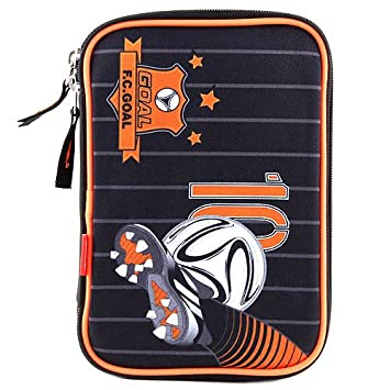 Target Goal Schüleretui Set de útiles Escolares, 22 cm, Negro (Schwarz/Weiß/Orange): Amazon.es: Equipaje