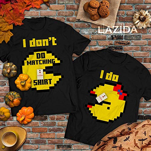 Pacman Couple Costume (Mr/Ms Pac Couple Costume Halloween 8bit Game Character Bff Couple Outfit T-Shirt T-Shirt | Hoodie | Tank Top | Sweatshirt | Long)