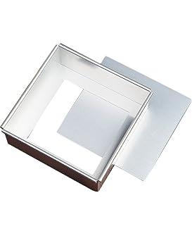 Molde cuadrado de aleación de aluminio para horno, resistente a la deformación y antiadherente, para uso doméstico, cocina, color plateado: Amazon.es: Hogar