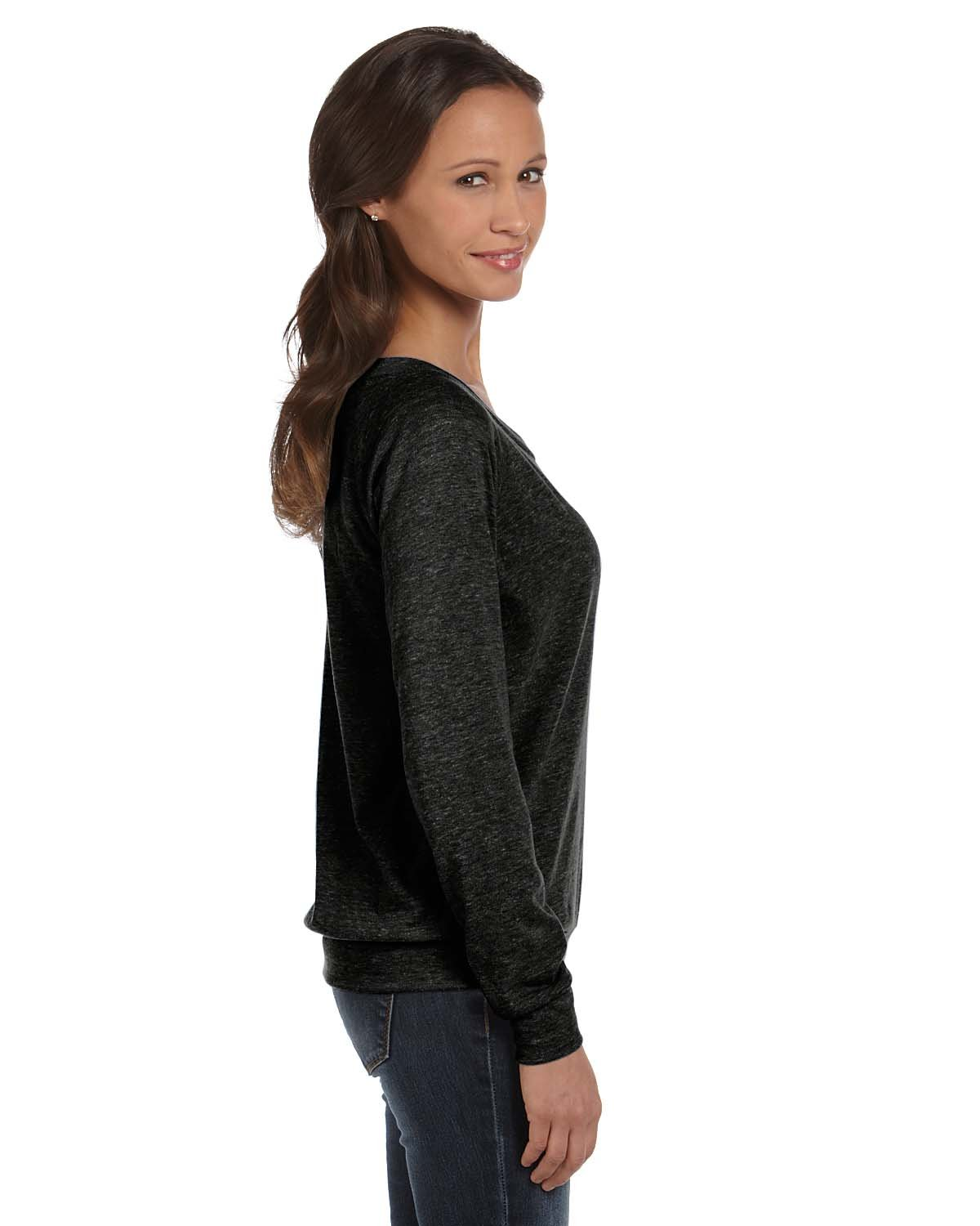 Alternative womens Polyster/Cotton Slouchy Pullover(AA1990)-ECO BLACK-M-3PK