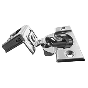 "Blum FF Hng w/blum 1-1/4 39C355B.20, 1-1/4"" Overlay Soft Close Cabinet Hinge, Nickel Plated Steel (Pack of 2)"