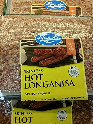 Magnolia Skinless Hot Longanisa 16 Oz (4 Pack) by Magnolia
