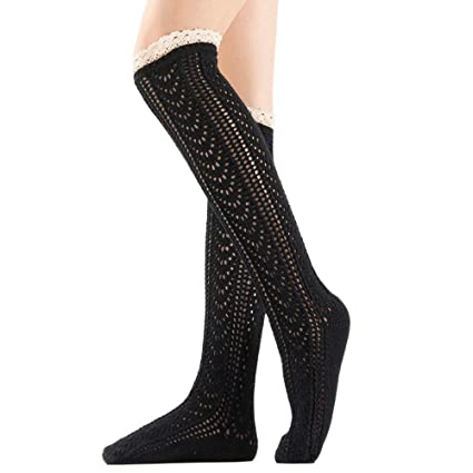 f69985010 Amazon.com  SUKEQ Women s Thigh High Socks