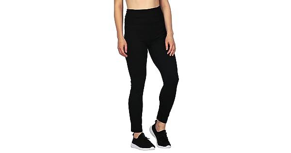 7448334d44ba2 HDE Women's Maternity Yoga Pants Pregnancy Stretch Fold Over Lounge Leggings  (Black, Medium)
