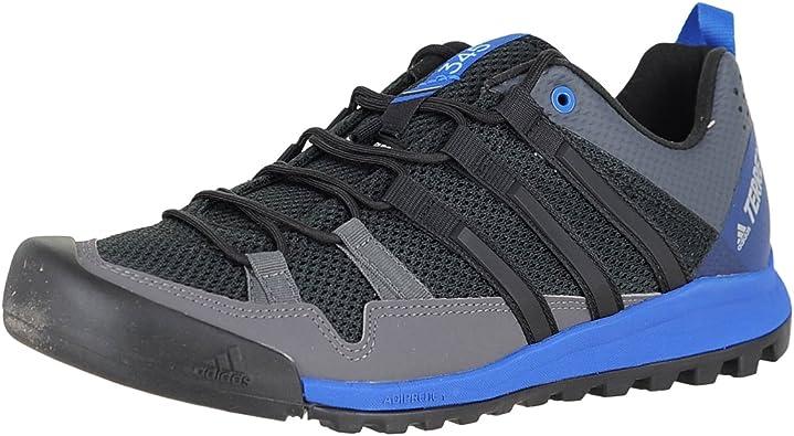 adidas New Men's Terrex Solo Hiking Shoe Black/Blue 10.5