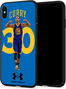 iPhone XR Case, Basketball Team & Star Fashion Hard Plastic & Silicone Rubber Bumper Protective Case for iPhone XR (6.1-inch Display) (Curry-Xr)