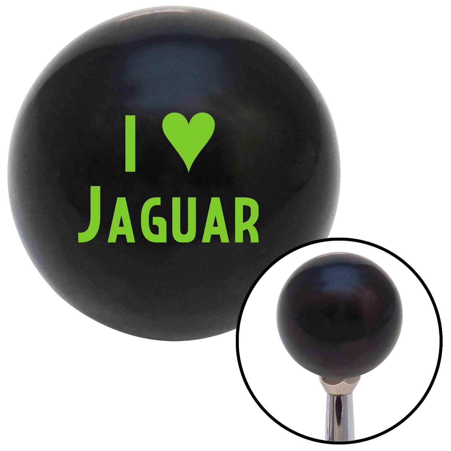 Green I 3 Jaguar American Shifter 105649 Black Shift Knob with M16 x 1.5 Insert