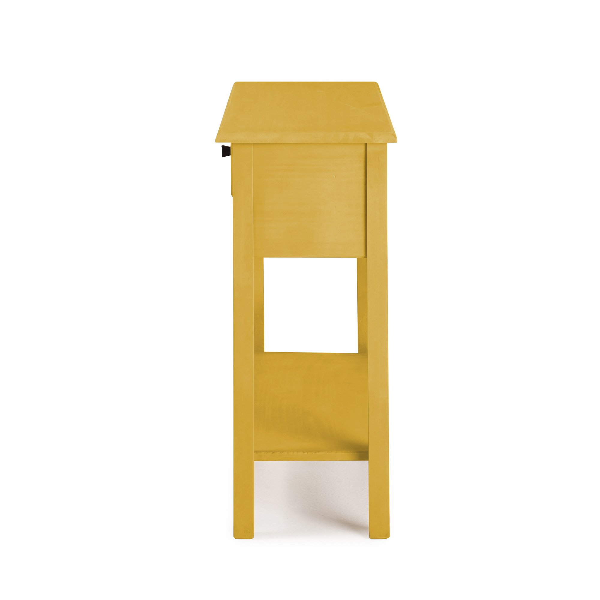 Manhattan Comfort Jay Collection Modern Wooden Sideboard Table with One Drawer and One Shelf, Yellow by Manhattan Comfort (Image #4)
