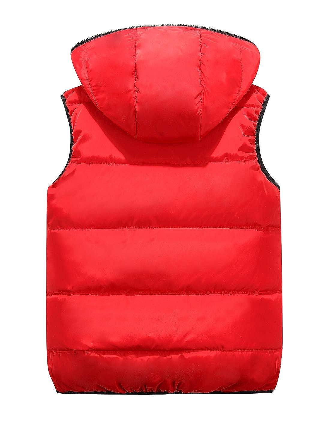 Happy Cherry Winter Hooded Vest Padded Camouflage Reversible Waistcoat Sleevelss Jacket 3-9T