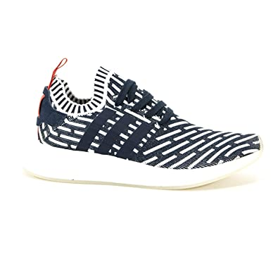 0b1284f7b adidas Men NMD R2 Primeknit (Navy Collegiate Green Footwear White)