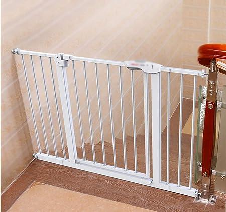 Teppichks Barreras de Seguridad Barrera para escaleras Puerta para bebés y Mascotas Extensible, Cierre automático, Dos direcciones, Montaje a presión para Espacios Entre 66-194 cm (tamaño: 66-74 cm): Amazon.es: Hogar