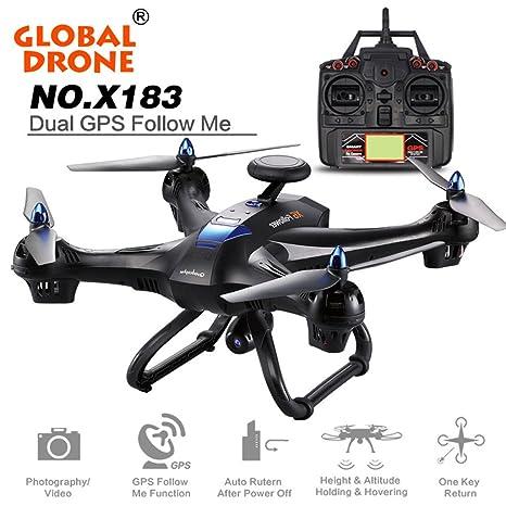 vovotrade Drone Global de 6 ejes x183 con 2 MP FPV HD cámara WIFI ...