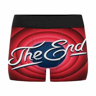 InterestPrint Mens Boxer Briefs Underwear Movie Ending Screen (XS-3XL)