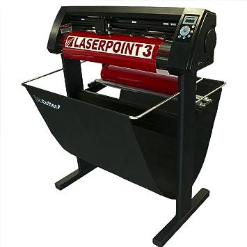 USCutter LaserPoint 3 (LP3) cortador de vinilo con armazón de corte de contorno, soporte y cesta: Amazon.es: Juguetes y juegos